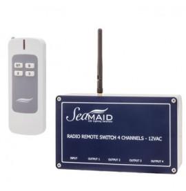Boitier radio 4 canaux + télécommande