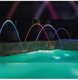 Jet d'eau MAGICSTREAM lumineux à leds effets de couleur