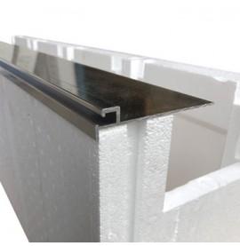 Rail alu pour bloc polystyrène