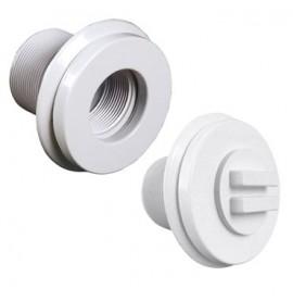 Prise balai pour béton avec obturateur Série 11 C'line blanc