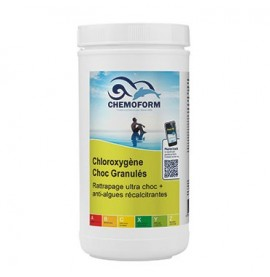 Chloroxygène choc granulés boîte de 1 kg - CHEMOFORM