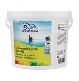 Chloroxygène choc granulés seau de 3 kg - CHEMOFORM
