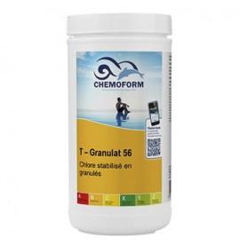 Chlore choc stabilisé granulés seau de 1 kg - CHEMOFORM