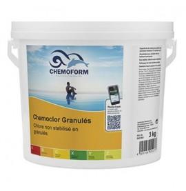 Chlore non stabilisé granulés seau de 3 kg - CHEMOFORM