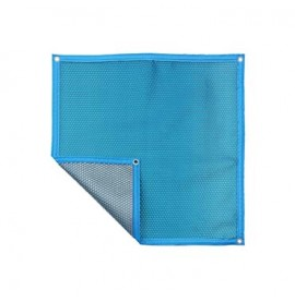 Couverture à bulles Bleue Argent