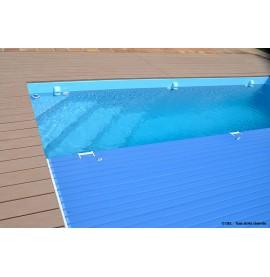 Lames PVC opaques bleues